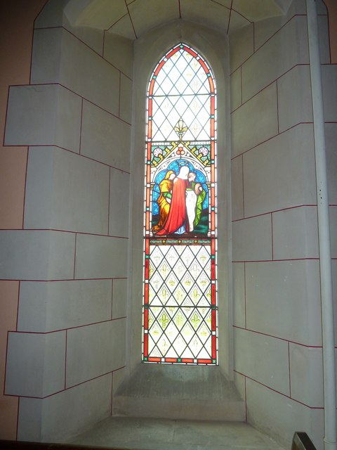 St Lawrence, Weston Patrick: stained glass window (5)