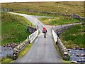 NY8128 : Italian backpacker on the Pennine Way by Andrew Curtis