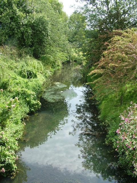 River Lark passes under Tollgate bridge