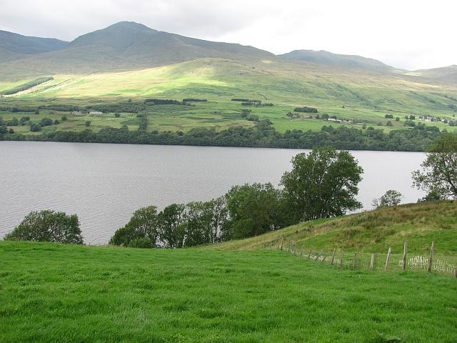 Fields by Loch Tay