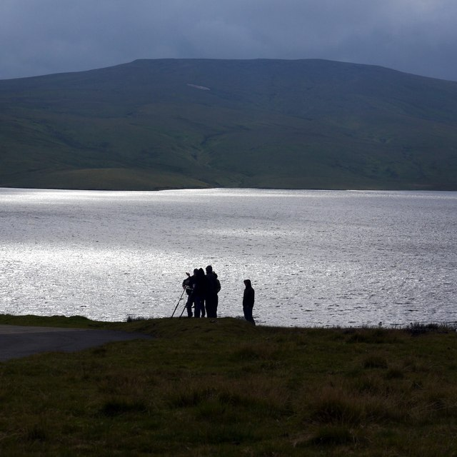 Film crew on location above Cow Green Reservoir