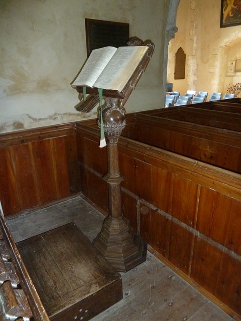 All Saints, Long Sutton: lectern