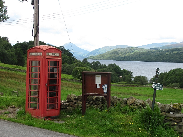 Telephone box, Ardtalnaig