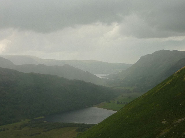Showers over Brothers Water and Patterdale