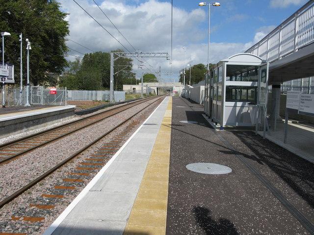 Drumgelloch railway station, looking North-East