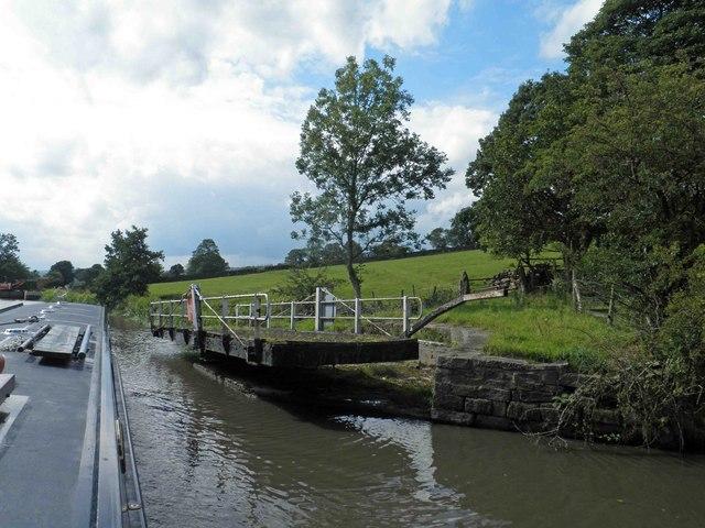 Lane house bridge on the Leeds Liverpool canal