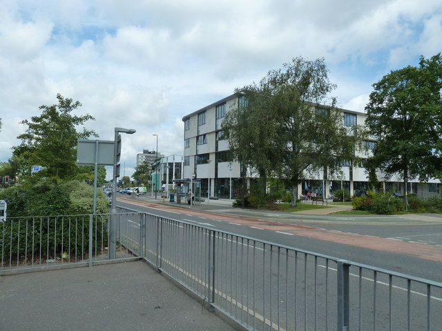 Looking across to Crawley Library