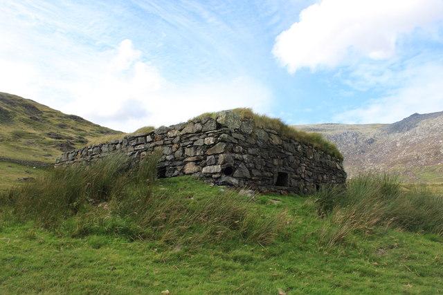 Pillbox at Roman Camp overlooking Nantgwynant