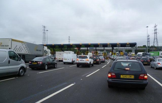 Toll Booths after Dartford Bridge Crossing
