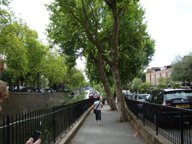 View of Little Venice from Blomfield Road