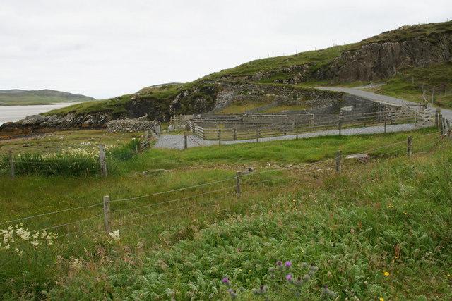 Sheep pens near Losgaintir