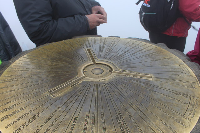 Snowdon summit triangulation pillar detail