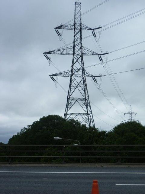 Pylon Beside M25 West Thurrock