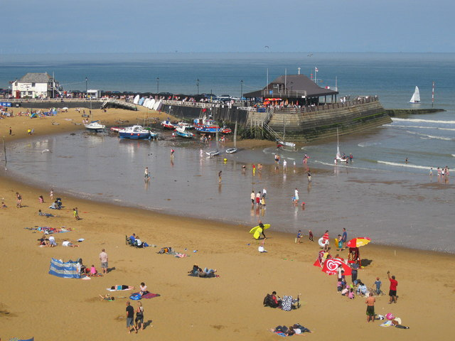 Broadstairs harbour and beach