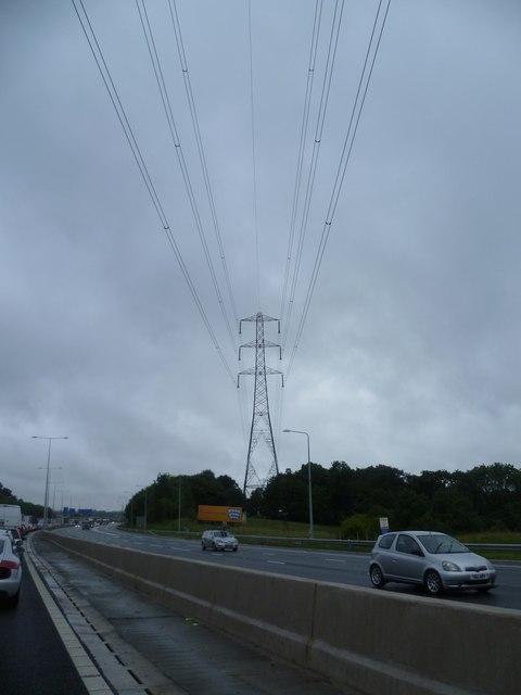 Pylon near Junction 28 on M25