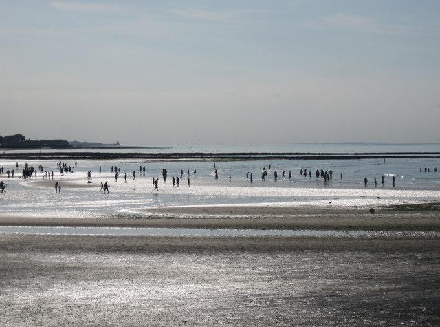 Matchstick men on Margate beach