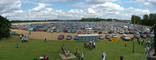 Car parking area, Rougham airshow