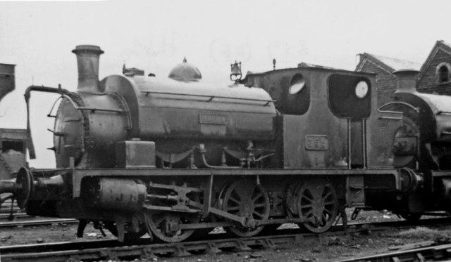 Ex-Llanelly & Mynydd Mawr 0-6-0T at Danygraig Locomotive Depot