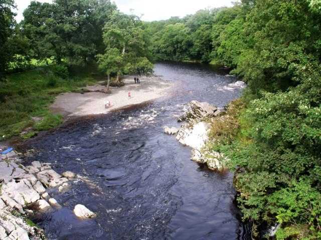 Kirkby Lonsdale, river Lune