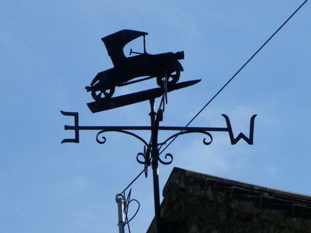 Weather vane near Gouthwaite Hall