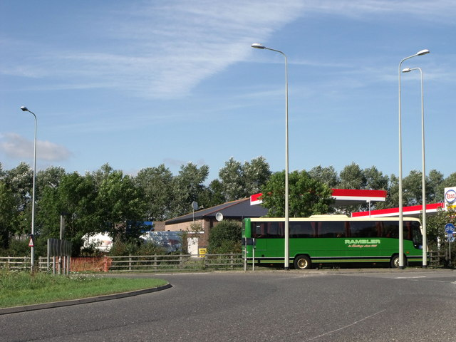 Roundabout and 'Rambler' coach, Pevensey