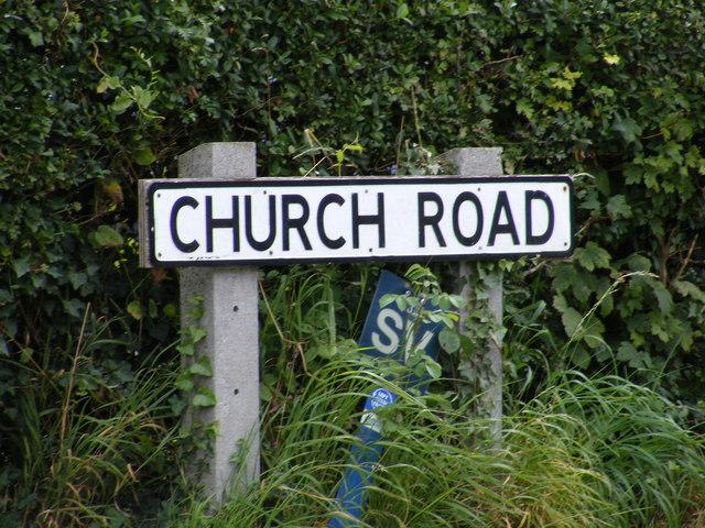 Church Road sign