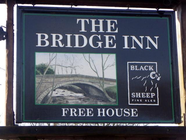 Sign for the Bridge Inn