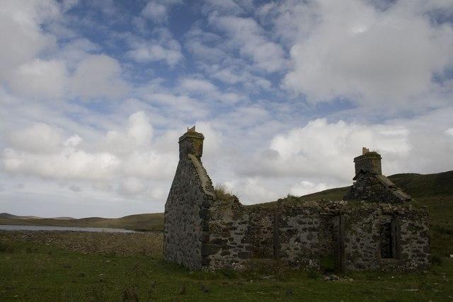 Ruin at Loch Cam, Islay