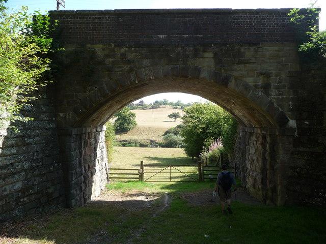 Footpath under the Severn Valley Railway