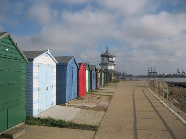 Beach huts at Harwich Green