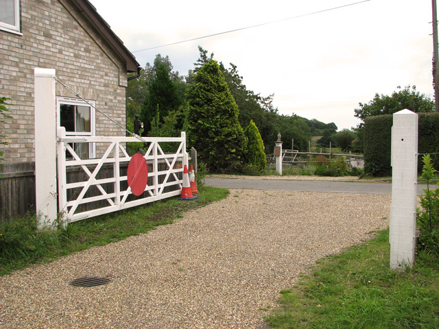 Old crossing gates at Gate Cottage Nursery