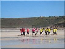SW3526 : Surf class on Sennen beach by Rod Allday