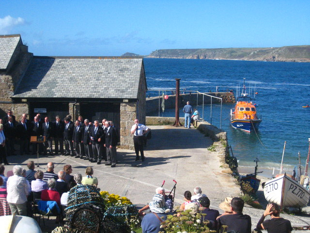 Choir concert in Sennen harbour