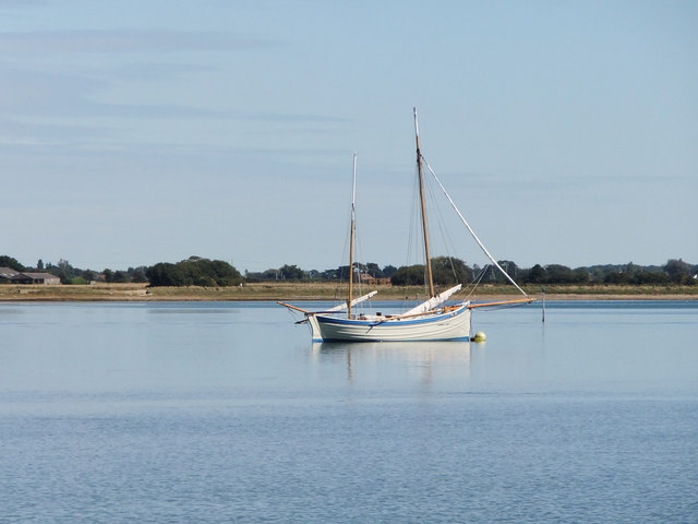 The former trawler 'Ocean Pearl' moored off Thorney Island