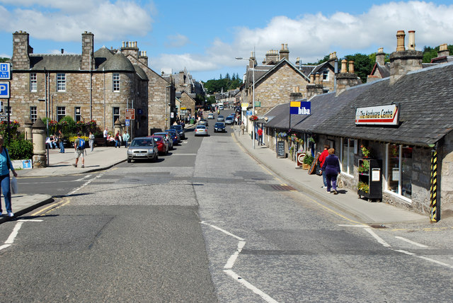 Atholl Road, Pitlochry, looking north-west