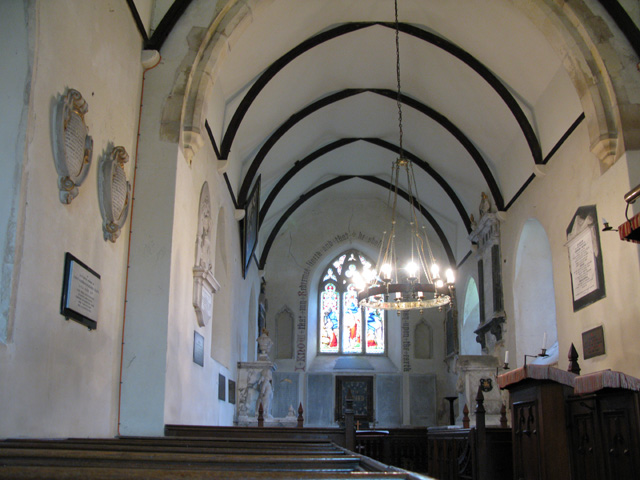 Interior of St Clement church, Knowlton