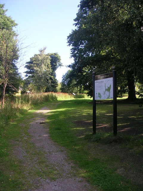 Footpath across Hunger Hills Nature Area - Hall Lane