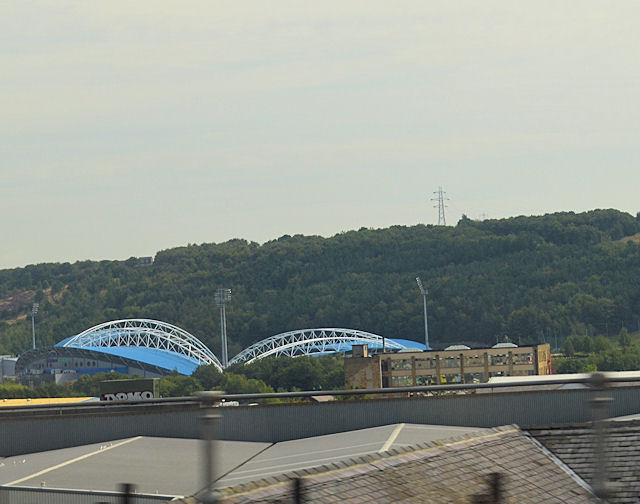 Across Huddersfield to football stadium