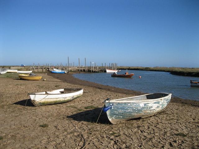 Boats at Morston Creek