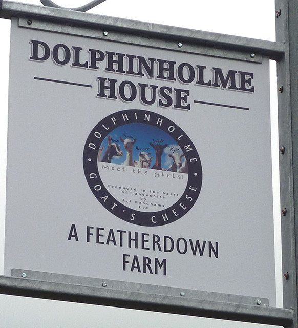 Sign for Dolphinholme House