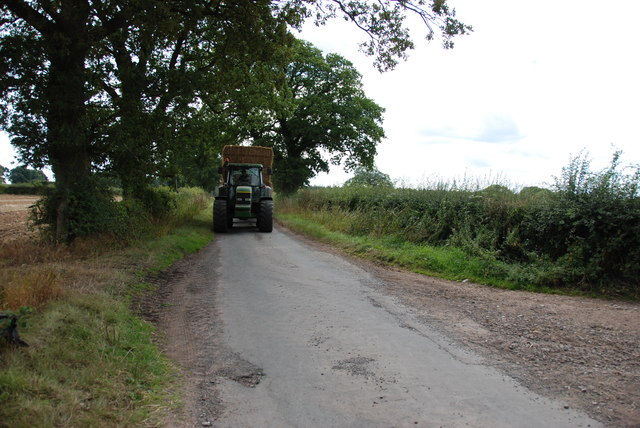 Tractor with load of Straw