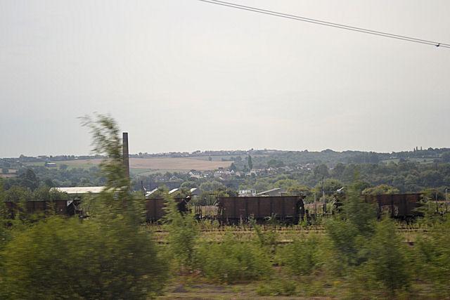 Across Healey Mills to Hostingley Farm