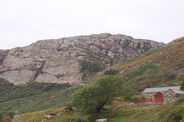 Rock climbing on Garn Goruwyn near Barmouth