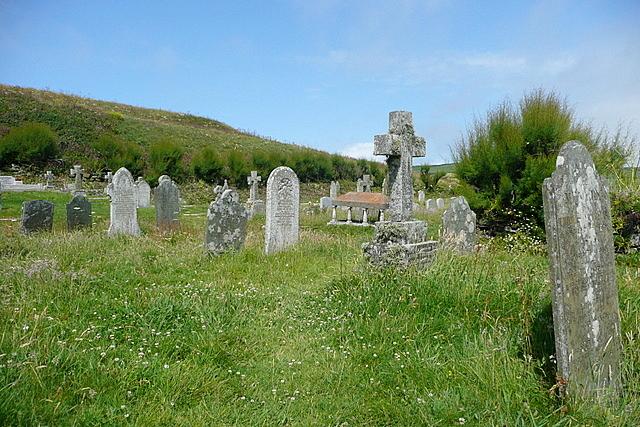 Churchyard of St Winwaloe's church