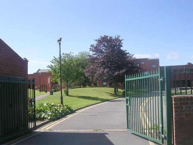 Entrance to Horsforth School - Lee Lane East