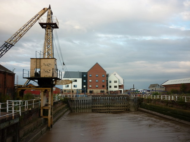 One of three former dry docks on High Street, Hull