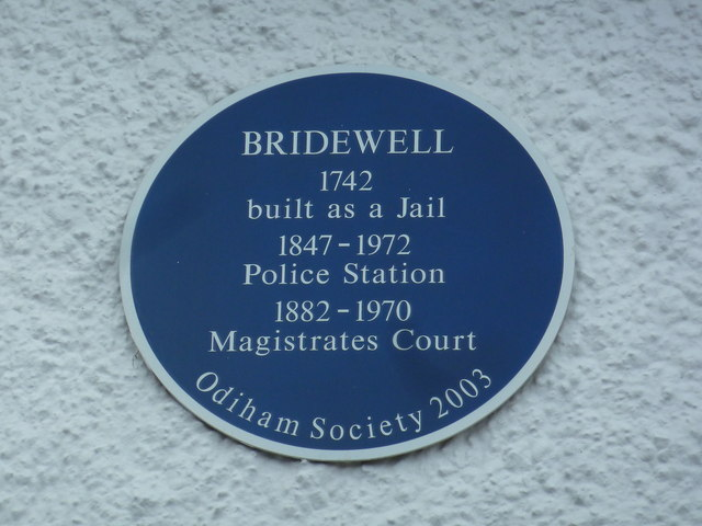 Blue plaque on Odiham Library
