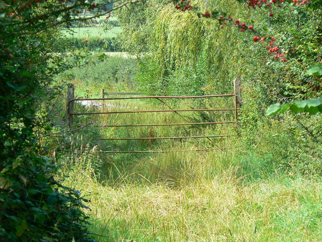 Gate at entrance to Rigsby's Lane near Minety