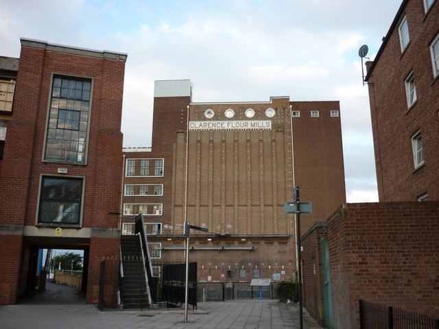 Clarence flour mill now closed