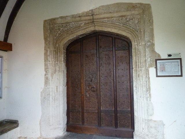 Odiham, All Saints: North door (outside)